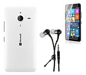 GTC COMBO OF BACK REPLACEMENT COVER FOR MICROSOFT NOKIA LUMIA 640XL WHITE WI...