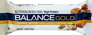 Balance Bar Caramel Nut Blast Gold Bar 1.76 OZ
