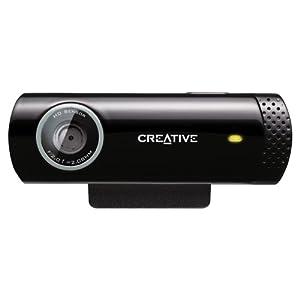 Creative Live! Cam Chat HD 720P, 5.7MP Webcam (Black)