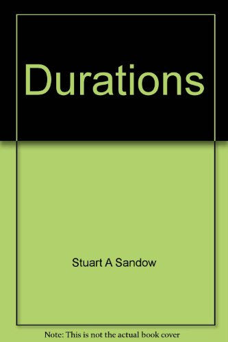 Durations: The encyclopedia of how long things take PDF