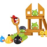 Angry Birds Knock On Wood Board Game Sound Effect Table Game (4 Pcs Birds + 3 Pcs Pigs)