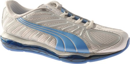 PUMA Women's Cell Voltra Aerobic Shoes,White/Azure Blue/Puma Silver,6 B US