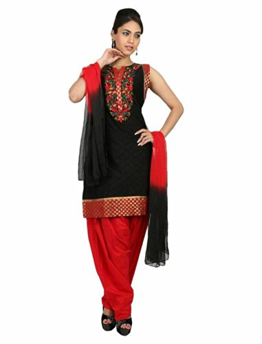 Fashiontra Women's Cotton Straight Cut Salwar Suit - B00KNW1T5K