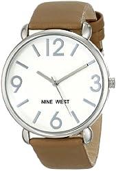 Nine West Women's NW/1607SVBN Silver-Tone Watch