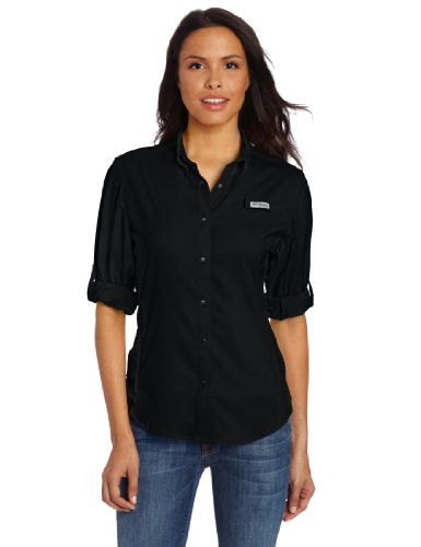 Columbia Women's Tamiami II Long Sleeve Shirt, 1X, Black