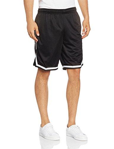 Urban Classics Stripes Mesh Shorts- Pantaloncini Uomo, Multicolore (blkblkwht 52), taglia produttore S