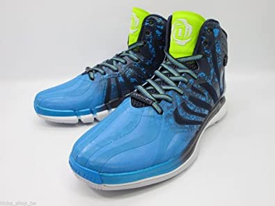 Buy Adidas Derrick D Rose 4.5 Adiprene G99362 Navy Solar Slime Solar Blue Mens Basketball Shoes by adidas
