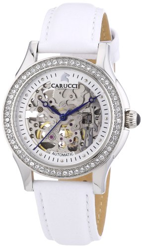 Carucci Self-Winding Watches Ladies Watch Analogue Automatic Leather CA2212SL