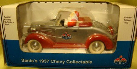 Amoco Santa's 1937 Chevy locking coin bank - limited edition from 1993