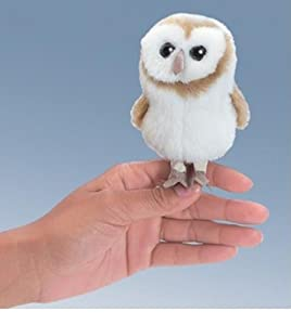 Folkmanis Barn Owl Mini Puppet from Folkmanis