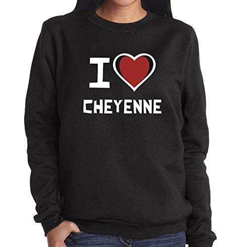 Felpa da Donna I love Cheyenne