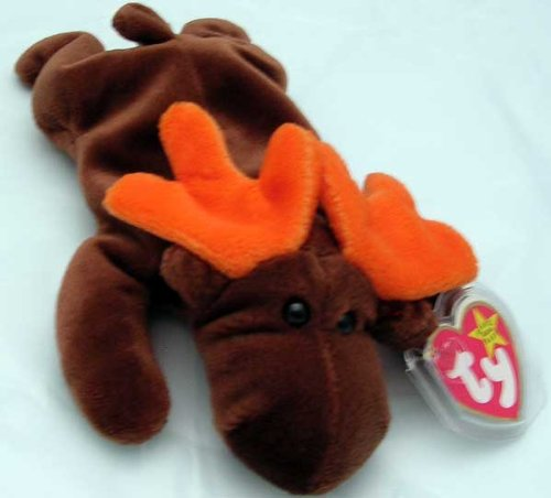 1993 Chocolate Rare Moose Beanie Baby - 1