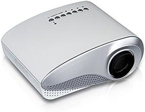 Excelvan RD-802 - Mini Proyector portátil HD Home Cinema (60 lúmenes, resolución 480x320, conexión HDMI/AV/USB/VGA/SD) con altavoces incorporados, Blanco
