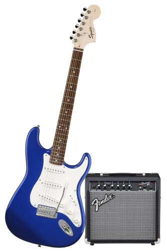 Squier by Fender Stop Dreaming-Start Playing Set: Affinity Special w/ Fender 15G Amplifier, Metallic Blue