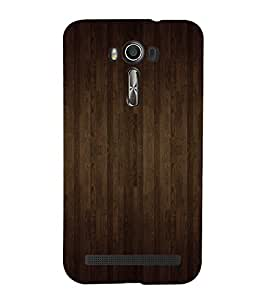 Brown Wood Pattern Cute Fashion 3D Hard Polycarbonate Designer Back Case Cover for Asus Zenfone 2 Laser ZE601KL (6 INCHES)