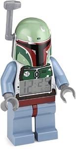 Lego Kids 9003530 Star Wars Bobba Fett Minifigure Clock from LEGO