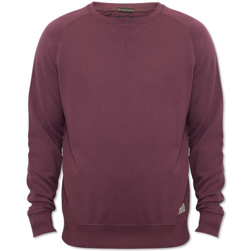 Jack & Jones Mens Burgandy Rugged Plain Crew Neck Jumper Burgandy XX-Large