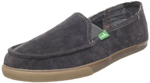 Sanuk Women's Standard Corduroy Slip-On Loafer,Charcoal,5 M US