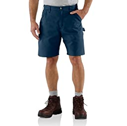 Carhartt Men\'s Canvas Utility Work Short B144,Navy,32