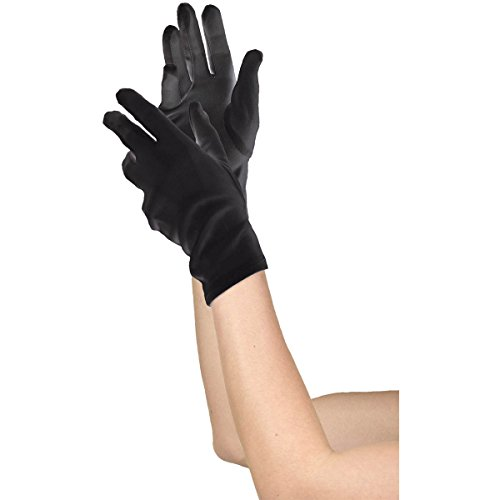 Women's Black Short Gloves