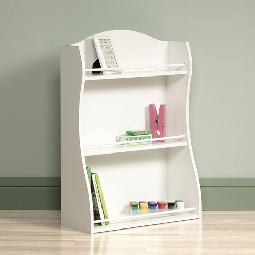 Cottage Style 3-Shelf Bookcase (White)