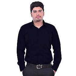 Sttoffa Solid Color Semi Cotton Formal Mens Wear Shirt