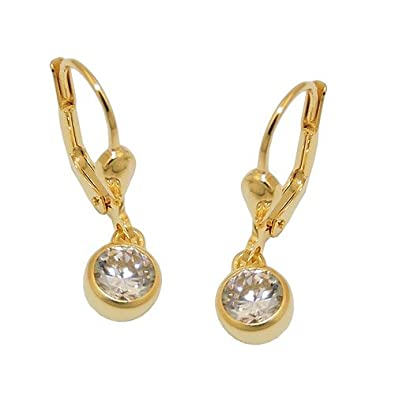 Hook Earrings Cubic Zirconia from 333 gold