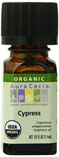 Aura Cacia Organic Essential Oil, Cypress, 0.25 Fluid Ounce