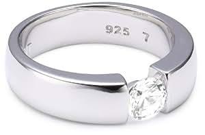 Esprit Jewels Damen-Ring Solitaire 925 Sterlingsilber 18 S.ESRG91983A180