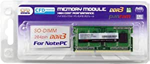 CFD-Panram ノート用 DDR3 1600 SO-DIMM 4GB 1枚組 CL11 D3N1600PS-4G
