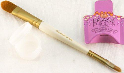 Bare Escentuals Double ended Concealer brush w/ free BENEFIT Erase Paste Medium Concealer (Maximum coverage and precise concealer brush)