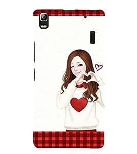 Vizagbeats girl showing heart Back Case Cover for Lenovo K3 Note