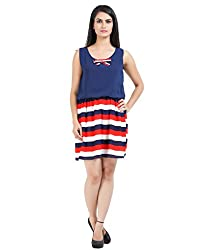Prnas Women's Dress (PR-06_Multi Colored_Small)