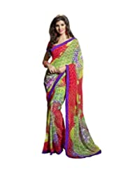 Triveni Multi Colored Fancy Motif Printed Saree 62012a