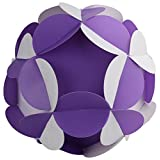 Ravi Creations Plastic Diwali Lamp - RC-21, White & Purple, 18 Cm X 18 Cm X 18 Cm