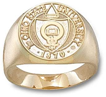 Ohio State Buckeyes Seal Mens Ring Size 10 1 2 - 14KT Gold Jewelry by Logo Art