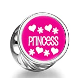 Rarelove Princess Cylindrical Photo Charm Beads