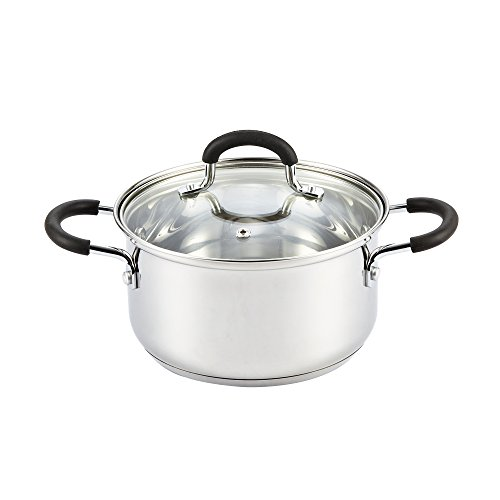 Cook N Home Stainless Steel Cookware 3 Quart Sauce Pot with Lid (Pot Stainless Steel compare prices)