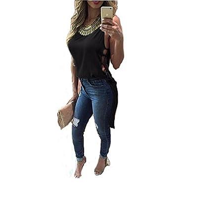Women Summer Vest Sleeveless Blouse Cocktail Casual Chiffon Tank Tops T-Shirt