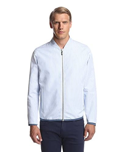 Calvin Klein Collection Men's Striped Zip Bomber