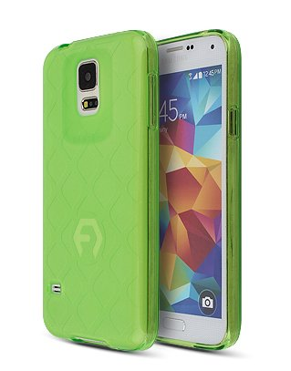 S5 Case, Aqua Bumper, Samsung Mobile Galaxy S 5 Soft Jelly Cover 7 Colors Tpu Slim Fit (At&T, Verizon, Sprint, T-Mobile) - Retail Packaging (Light Green)
