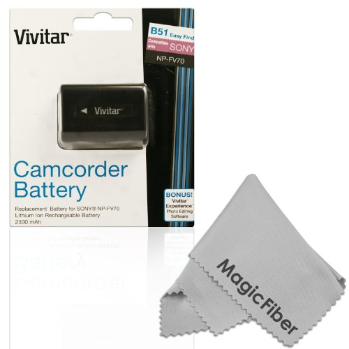 Vivitar Np-Fv70 Ultra High Capacity 2300Mah Li-Ion Battery For Sony Camcorders Hdr-Cx190 Hdr-Cx210 Hdr-Cx220 Hdr-Cx230 Hdr-Cx260 Hdr-Cx290 Hdr-Cx380 Hdr-Mv1 Hdr-Pj200 Hdr-Pj230 Hdr-Pj260 Hdr-Pj380 Hdr-Pj430 + More (Sony Np-Fv70 Replacement)