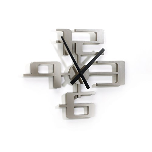 Umbra Big Time Wall Clock, Nickel
