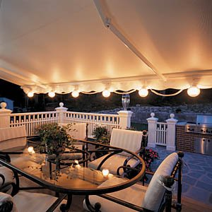Patio String Lights - Awning Attachment (White) (6 lights)