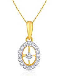 Malabar Gold & Diamonds 18k Yellow Gold And Diamond Pendant