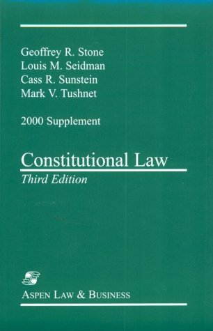 Constitutional Law: 2000 Supplement