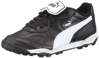 Puma Esito Classic TT Jr 102423, Unisex - Kinder, Sportschuhe - Fußball, Schwarz (black-white 01), EU 36 (UK 3.5) (US 4.5)