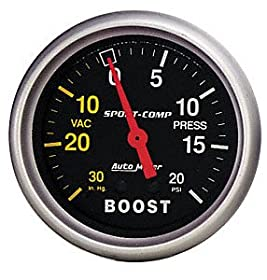 Auto Meter 3301 Sport-Comp Mechanical Boost/Vacuum Gauge