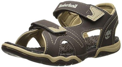 Timberland Advskr 2Strp Sandali a punta aperta, Bambini e Ragazzi, Marrone (Brown With Tan), 34