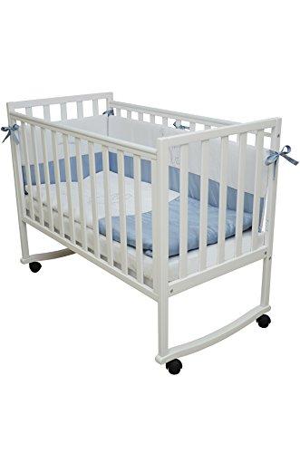 Babybett-Kinderbett-Wei-120x60-Buche-Massivholz-Neu-Riga-1306
